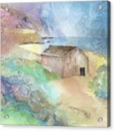 Shed By A Lake In Ireland Acrylic Print by Arline Wagner