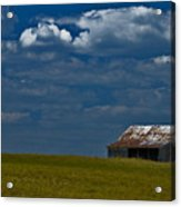 Shed In The Light Acrylic Print by Susan Yates