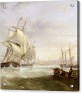 Shipping Off Hartlepool Acrylic Print by John Wilson Carmichael