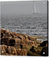 Ships Harbor In Maine Acrylic Print by James Dricker
