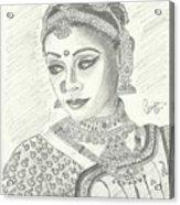 Shobana Chandrakumar-bharatanatyam Dancer Acrylic Print by Priya Paul
