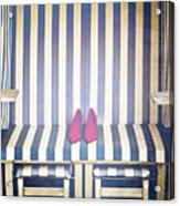 Shoes In A Beach Chair Acrylic Print by Joana Kruse