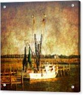 Shrimp Boat In Charleston Acrylic Print by Susanne Van Hulst
