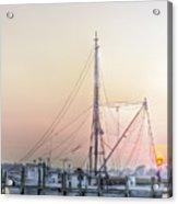 Shrimp Boat Sunset Acrylic Print by Drew Castelhano