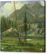 Sierra Nevada Mountains Acrylic Print by Albert Bierstadt
