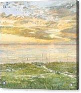 Siesta Key Sunset Acrylic Print by Shawn McLoughlin