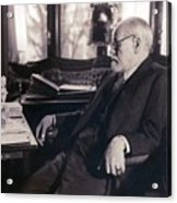 Sigmund Freud Seated In His Study Acrylic Print by Everett