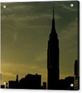 Silhouette Of Empire State Building Acrylic Print by Todd Gipstein