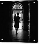 Silhouette Portrait Of Jacqueline Acrylic Print by Everett