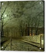 Silver Moonlight Acrylic Print by John Atkinson Grimshaw