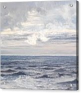Silver Sea Acrylic Print by Henry Moore
