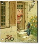 Singing Piglet Acrylic Print by Kestutis Kasparavicius