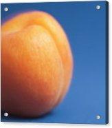 Single Ripe Apricot Ready To Eat Acrylic Print by Sami Sarkis