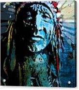 Sioux Chief Acrylic Print by Paul Sachtleben