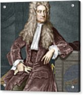 Sir Isaac Newton, British Physicist Acrylic Print by Sheila Terry