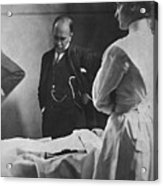 Sir William Osler 1849 – 1919, Reading Acrylic Print by Everett