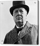 Sir Winston Churchill Acrylic Print by War Is Hell Store