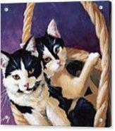 Sisters Acrylic Print by Pat Burns