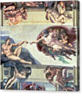 Sistine Chapel Ceiling Creation Of Adam Acrylic Print by Michelangelo