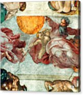 Sistine Chapel Ceiling Creation Of The Sun And Moon Acrylic Print by Michelangelo