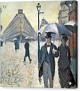Sketch For Paris A Rainy Day Acrylic Print by Gustave Caillebotte