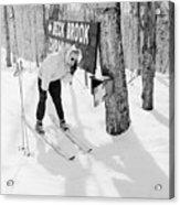 Skier's Telephone Acrylic Print by Titchen