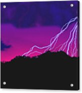Sky Power Acrylic Print by Gerard Fritz