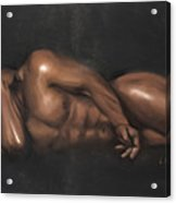 Sleeping Nude Acrylic Print by L Cooper