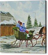 Sleigh Ride Acrylic Print by Charlotte Blanchard