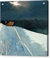 Sleigh Ride Acrylic Print by Winslow Homer