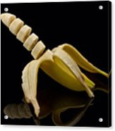 Sliced Banana Acrylic Print by Gert Lavsen