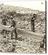 Sluice Box Placer Gold Mining C. 1889 Acrylic Print by Daniel Hagerman