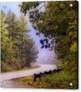 Smokey Mountain Road Acrylic Print by Shirley Dawson