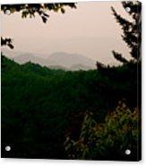 Smokey Mountains At New Found Gap Acrylic Print by Kimberly Camacho