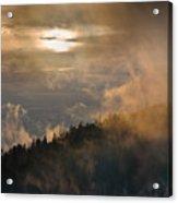 Smoky Mountain Acrylic Print by Steve Gadomski