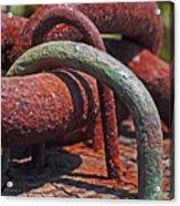 Snaking Rust  Acrylic Print by Rona Black