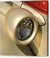 Snazzy Headlamp On Antique Car Acrylic Print by Douglas Barnett