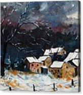 Snow 57 Acrylic Print by Pol Ledent