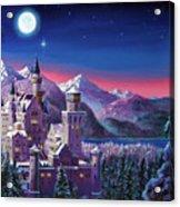 Snow Castle Acrylic Print by David Lloyd Glover