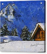 Snow Covered Acrylic Print by Anthony Caruso