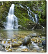 Snow Creek Falls Acrylic Print by Idaho Scenic Images Linda Lantzy