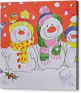 Snow Family Acrylic Print by Diane Matthes