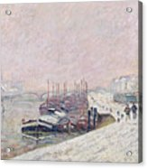 Snow In Rouen Acrylic Print by Jean Baptiste Armand Guillaumin