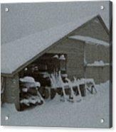 Snow Shed Acrylic Print by Paul Barlo