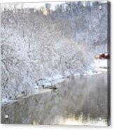 Snow Storm Acrylic Print by Joan Powell