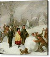 Snowballing   Acrylic Print by Cornelis Kimmel