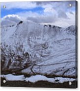 Snowy Mountain Acrylic Print by Angie Wingerd