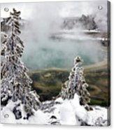 Snowy Yellowstone Acrylic Print by Jason Maehl