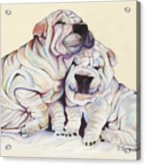 Snuggles  Acrylic Print by Pat Saunders-White
