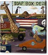 Soap Box Derby Acrylic Print by Leah Saulnier The Painting Maniac